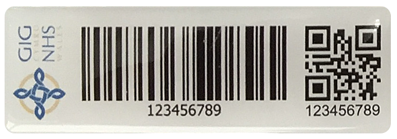Resin Domed Polyester Tag Example 1