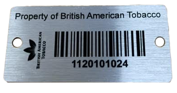 Anodised Aluminium Tags Example 1